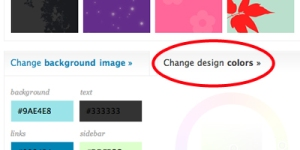 Clique sobre o menu Change design colors