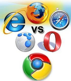 Seis dos Principais Browsers estão lutando por mais espaço no mercado