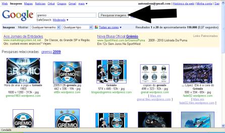 6° Etapa: Clicar sobre uma das imagens escolhida, de maneira a abrir uma página com está em miniatura.