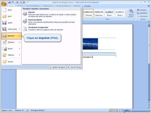 Imprimindo em ordem inversa no Word 2007 2