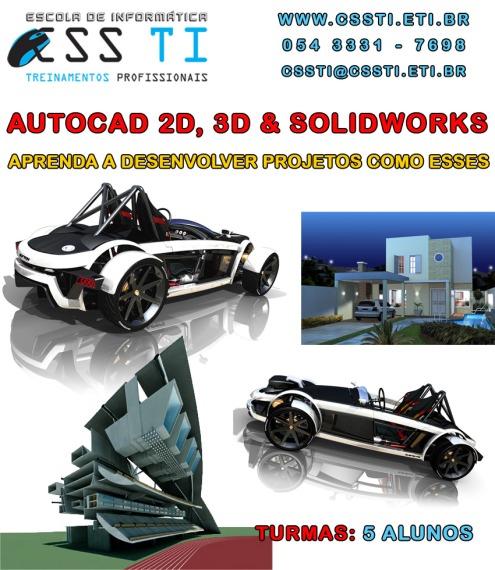 Cursos de AutoCAD 2d, 3d & Solidworks